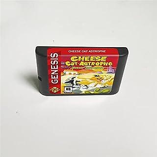 Lksya Cheese Cat Astrophe - Carte de jeu MD 16 bits pour cartouche de console de jeu vidéo Sega Megadrive Genesis (coque j...