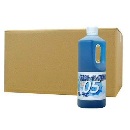 仮設トイレ用消臭液 トイレラボ05 1リットル×12本 消臭剤