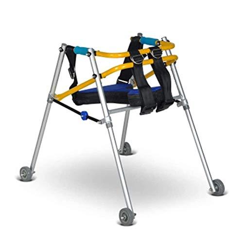 ZHANGYUNSXD Rollator para Ancianos Plegable Rehabilitación Infantil Andador Walker, Ligero Plegable Walker Drive, Movilidad Kids Andadores con Acolchado Asiento y Ruedas (Size : 62/72CM)