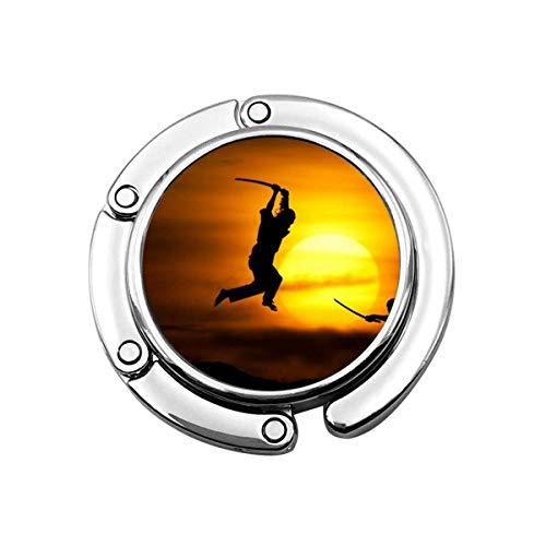 Handtaschenhaken Love Sun Karate Silhouette Druck Charm Geldbörse Handtasche Tisch Schreibtisch Taschenhaken Hakenhalter
