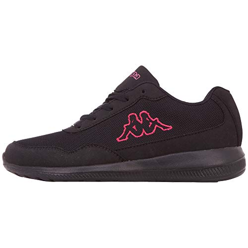 Kappa Damen Follow Oc Sneaker, 1122 Black Pink, 39 EU