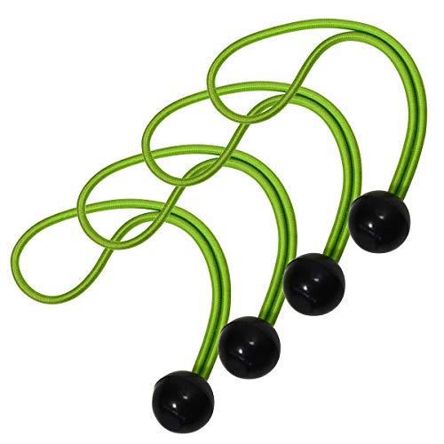 Master Lock 3254EURDAT Tendeur avec Boule [20 cm d'Elastique] [Pack de 4 Tendeurs] - Idéal pour Transporter des Tapis de Yoga