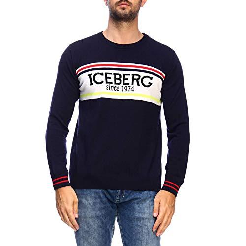 Luxury Fashion | Iceberg Heren A01270106689 Donkerblauw Wol Truien | Herfst-winter 19