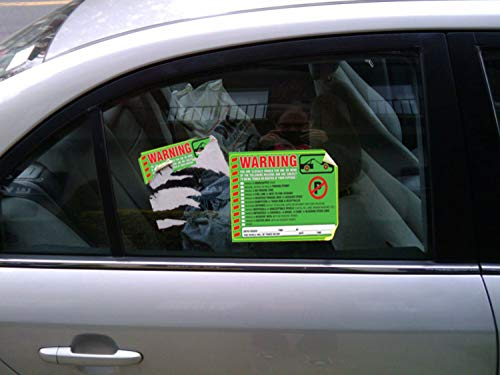 """Parking Violation Stickers Notice (Pack of 50) Tow Warning You are Illegally Parked Multi Reasons - Large Size 6"""" X 9"""" – Green Photo #2"""