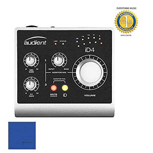 Audient iD4 Portable Bus-Powered Audio Interface with 1 Year Free Extended Warranty