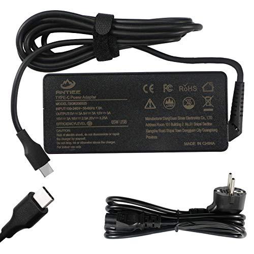 ANTIEE 65W Type C Portátil Cargador, USB C EU Fuente de Alimentación Adaptador para HP Chromebook 11 13 14 14A G5 Spectre X360 13 Elite x2 1012 G1 EliteBook 840 850 1030 G3 1040 G6 1013 G7 G8 EE 440