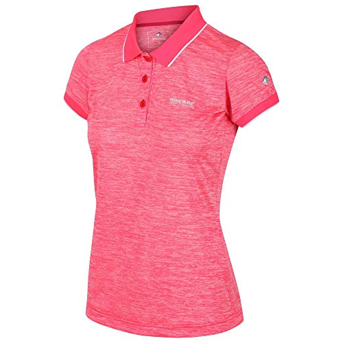 Regatta Tima Polo sans Manches Femme, Neon Pink, FR Fabricant : Taille 14