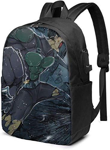 One Punch Man Mumen Rider, Busin Anti Theft Slim Durable Laptops Backpack with USB Charging Port,School Backpacks 17in