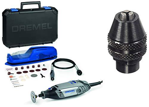 Dremel 3000-1/25 EZ - Multiherramienta + Dremel 4486 - Portabrocas de cierre rápido (0.8 mm a 3.4 mm)