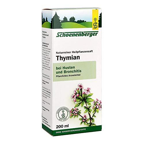 Schoenenberger Thymian naturreiner Heilpflanzensaft, 200 ml Lösung