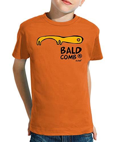 latostadora - Camiseta Bald Comb para Nino y Nina Naranja XXL