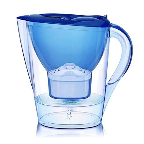 MFASD Jarra de Filtrado 10-Cup, Jarra de Agua Filtrada con Filtro Water Filter para Reducir el Plomo y Otros Metales Pesados Libre de Bisphenol A,Dark Blue
