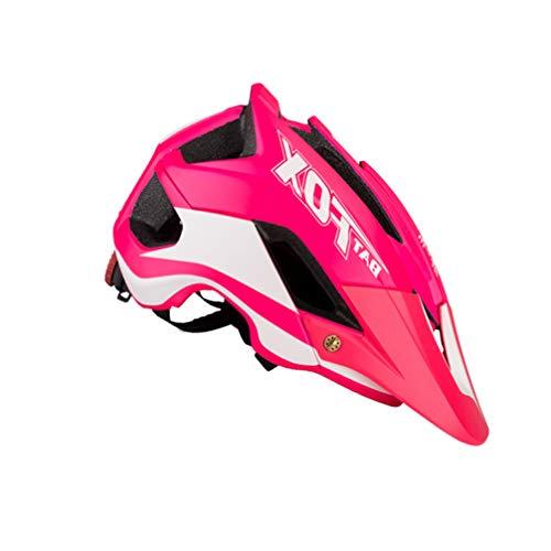 IMIKEYA Casco para Bicicleta Monopatín Casco de Seguridad para Ciclismo Equipo de Protección para Deportes Al Aire Libre Ciclismo de Montaña Rosa Y Negro (Tamaño Promedio)