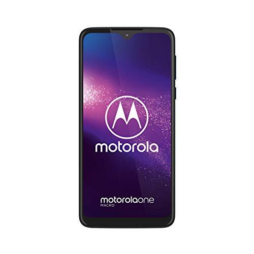 Motorola One Macro (Ecran 6, 2' HD+, Camera Macro Vision, 64GB/ 4GB, Android 9.0, Dual SIM), Bleu Sidéral