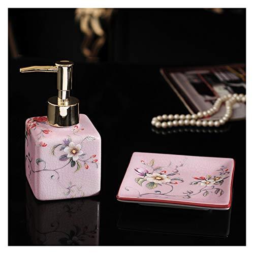 NYKK Dispensadores de loción Líquido de cerámica Botella de jabón Jabón de Dos Piezas Jabón Americano Líquido Líquido Plato de jabón Personalizado Baño Subbotellador Lavadora Botella Líquido jabón