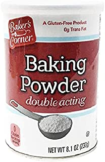 Baker's Corner Double Acting Baking Powder, 8.1 oz can