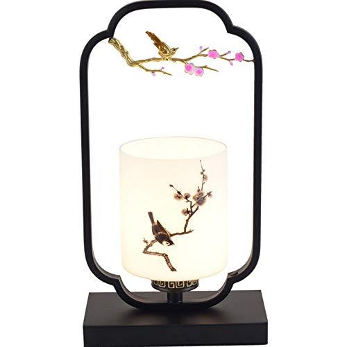 Cinese moderno Tessuto vetro Lampada da Tavolo Lampada da comodino Metallo dorato Lampada da Tavolo per soggiorno, tessuto lampada da tavolo con interruttore per Camera da letto e sala di studio,I