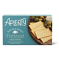 Aplenty, Olive Oil & Sea Salt Flatbread Crackers, 4.4 oz