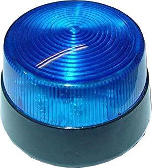 Stroboskop Blitzer Blau, rund, 12VDC LED Blitzer, Flash, 80-100 Blitze, B3