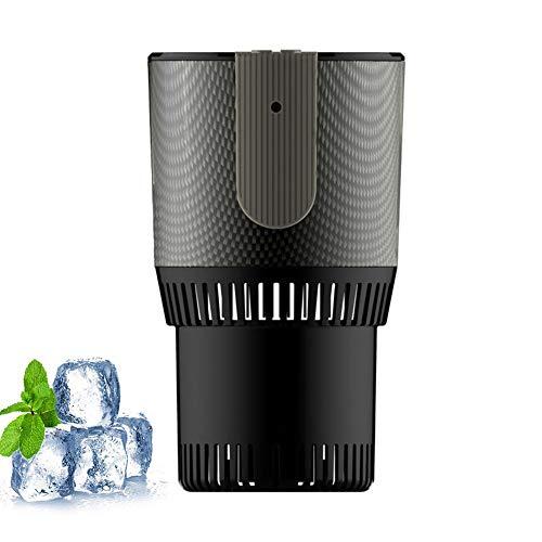 Snelle autokoelbox & warmtebeker, mini-desktop-snelkoelbeker energiezuinige elektronische drank-/bier-/wijnkoeler, kopjes-ijsmachine voor het invriezen van water (kleur: grijs)