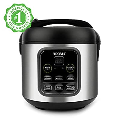 Aroma Housewares ARC-5200SB Rice, Grain, Saute Pan, Slow Cooker, Steamer, Stewpot, Oatmeal, Risotto, Soup Maker