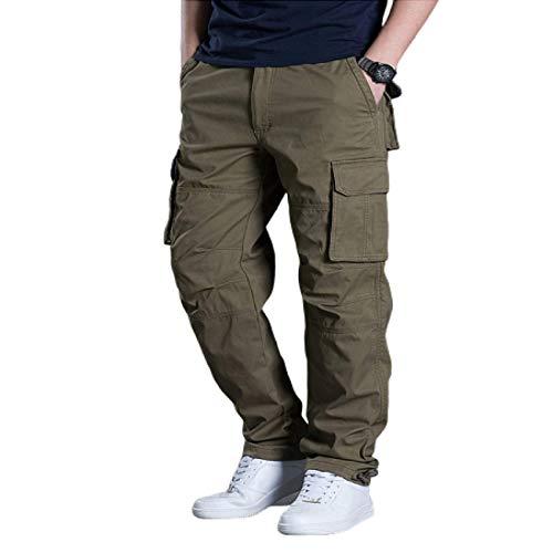 Pantalones de Combate de Carga Rectos para Hombre Pantalones Casuales de Trabajo al Aire Libre Resistentes al Desgaste y duraderos con mltiples Bolsillos Medium