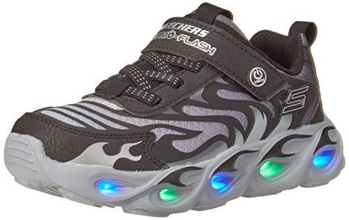 Skechers Kids, S Lighs, Boys, Sport Lighted Sneaker, Black/Charcoal, 12 little kid