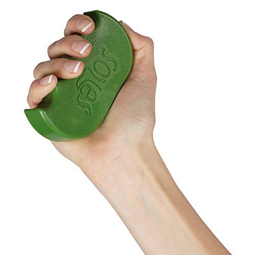 Soles - Ejercitador de Mano y Dedos - Fuerza y Rehabilitación (Sls52G) - Verde (Blando)