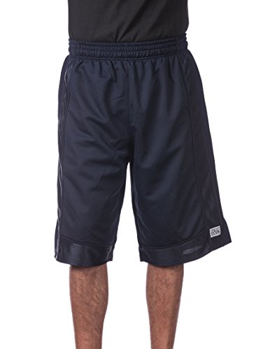 Pro Club Men's Heavyweight Mesh Basketball Shorts, Navy, X-Large