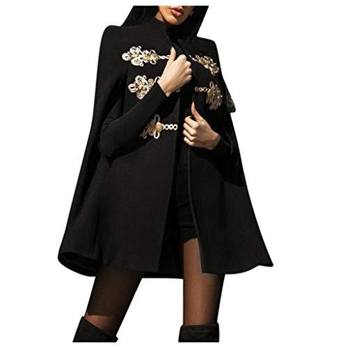 Minikimi Damesjas, elegante wol, klassiek vintage, lange gothic omhanging, trenchcoat, warme winterjas, parka, outwear
