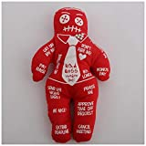 carrie-ful Voodoo Doll Bad Boss Stress Relief Toys Personalized Polyester Doll Holiday Party Gifts Good Luck Power Money Health Prosper Revenge Spells Magic Cute