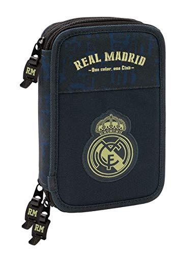 Real Madrid CF 411934057 Estuche, Niños Unisex, Negro
