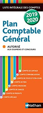 Plan comptable général - 2019/2020 de Jean-Luc Siegwart