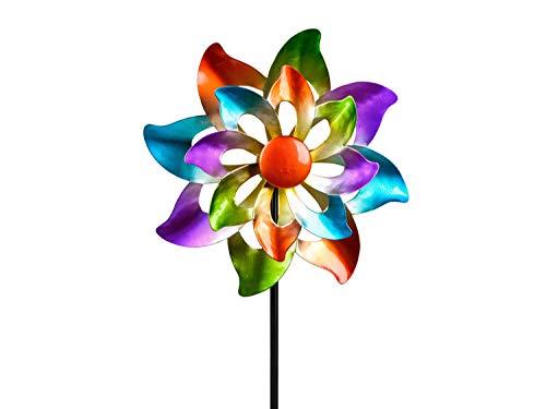 Unbekannt Buntes Windrad 25/110 cm Gartenstecker Windspiel Gartendeko Blumenstecker