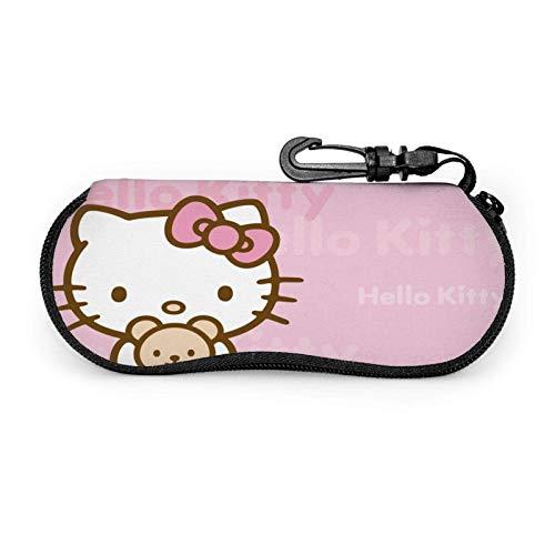 Sonnenbrille Hello Kitty Brillenetui Schutzset Tragbarer Reisereißverschluss Weiches Neopren Brillentasche Etui