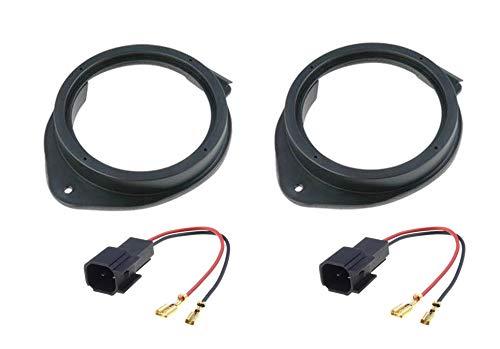 Sound-way Kit Montaggio Altoparlanti Autoradio Casse Supporti Distanziali 165 mm, Cavi Adattatori, compatibile con Opel Insignia, Astra, Meriva, Adam, Mokka, Zafira