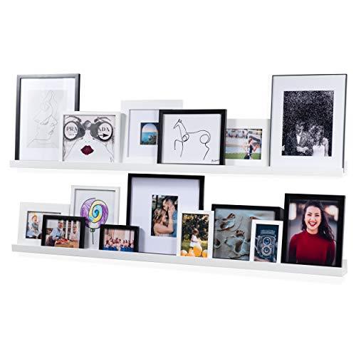 Nursery Shelves,Set of 2 Natural Wood Floating Wall Bookshelves for Kids,Nursery Book Shelves for Wall,Bathroom Decor, Kitchen Spice Rack (Burlywood)