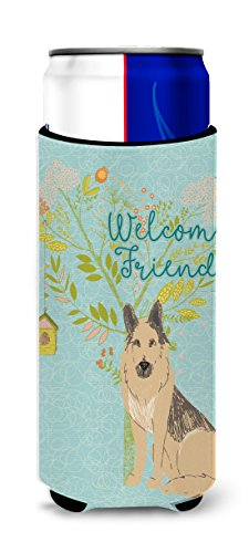 Caroline 's Treasures BB7578MUK Welcome Friends - Figura decorativa, diseo de pastor alemn, multicolor