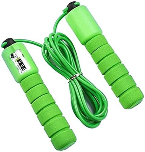 angelHJQ Cuerdas de saltar con contador de deportes ajustable velocidad rápida conteo saltar cuerda saltar saltar saltar cable