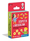 Clementoni - 16633 - Scopetta e briscolina - mazzo di carte, carte da gioco bambini 5 anni+, gioco da tavolo, gioco di società per tutta la famiglia, 2-6 giocatori, Made in Italy, Multicolore