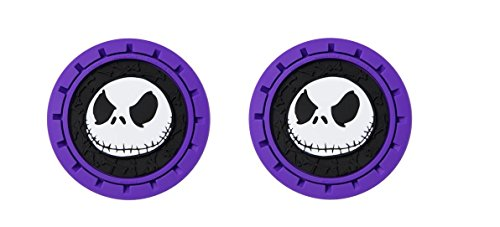 Disney NBC Bone Nightmare Before Christmas Jack Heavy Duty Rubber Auto Cup Holder Coaster 2pc