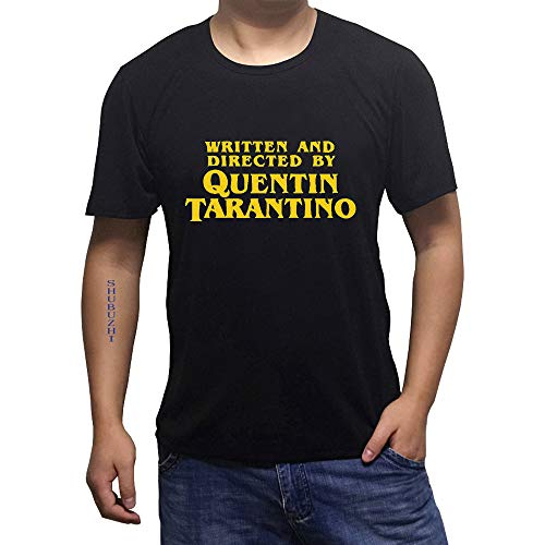 OF Written and Directed T-Shirt Quentin Tarantino Graphic Pulp Fiction Casual O-Neck Funny Tops Clothing Letter Tshirt