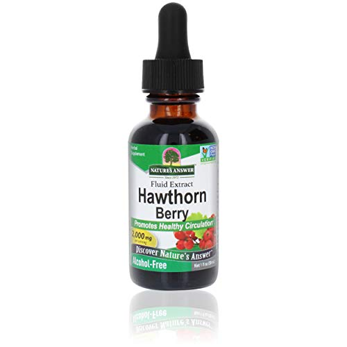 Nature's Answer Hawthorn Berries   Promotes Healthy Circulation Function   Helps Maintain Healthy Cholesterol Levels   Gluten-Free, Alcohol-Free, Kosher Certified & No Preservatives 1oz