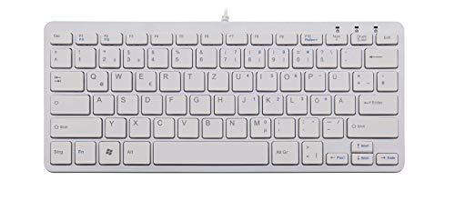 R-GO Tools RGOECQZW Ergo Compact Tastatur QWERTY weiß/silber