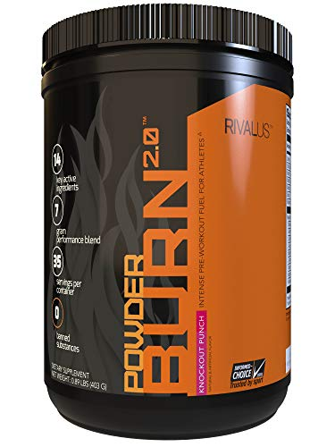 Rivalus, Powder Burn 2.0 Punch 35 Serving, Knockout Punch, 17.6 Ounce
