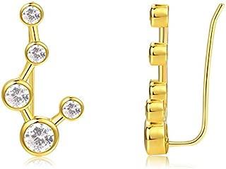 Big Dipper Constellation Ear Climber Sterling Silver Star Earrings