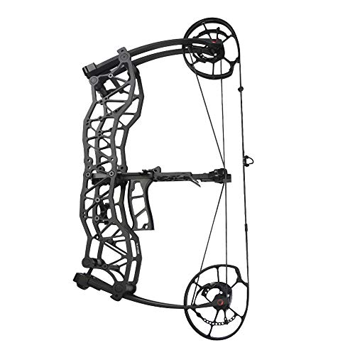 AMEYXGS Archery Hunting Compound Bows Kit 40-60lbs Dual-Use Catapult Steel Ball Bow CNC Aluminum Riser for Adult Outdoor Hunting Fishing