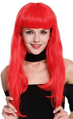 WIG ME UP- 90649-EZA13 Peluca Mujer Carnaval Halloween Rojo Años 50 Burlesque Pin-Up Flequillo