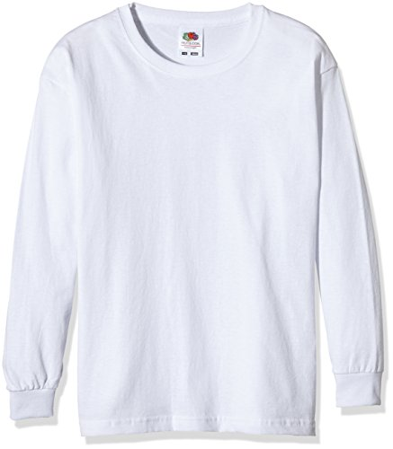 Fruit of the Loom SS019B Camiseta, Blanco, Medium (7-8 años) Infantil