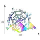 RZL Bricolaje Adhesivos Universal Montaña brújula Coche-Styling Etiqueta de Compass Navegar para el Coche automático para Casas rodantes Caravana Caravanas Etiquetas engomadas del Estilo del Coche